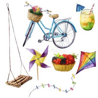 placeres-del-verano-de-la-acuarela-fijados-objetos-pintados-mano-de-las-vacaciones-de-verano-oscilación-cóctel-kait-torta-de-94479978